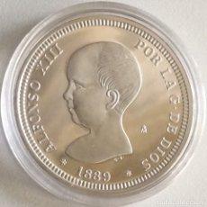 Monedas FNMT: MONEDA CONMEMORATIVA FNMT - 2 PESETAS ALFONSO XIII 1889 - PLATA 925 (27 G) - HISTORIA DE LA PESETA. Lote 212409166