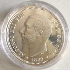 Monedas FNMT: MONEDA CONMEMORATIVA FNMT - 2 PESETAS ALFONSO XII 1882 - PLATA 925 (27 G) - HISTORIA DE LA PESETA. Lote 212409336