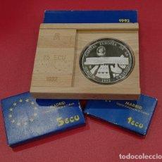 Monedas FNMT: ESPAÑA - 1992 - 6 ONZAS PLATA- FNMT- CINCUENTIN+5+1 ECUS. Lote 213828701