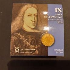 Monedas FNMT: ESTUCHE MONEDA ORO 20 EUROS 2019 ESPAÑA JOYAS NUMISMATICAS IX CASA DE AUSTRIA ORIGINAL FNMT. Lote 215773223