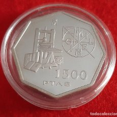 Monnaies FNMT: MONEDA PLATA ESPAÑA 1500 PESETAS AÑO 2000 MILENIO IMPRENTA PROOF ORIGINAL , B35. Lote 215995272