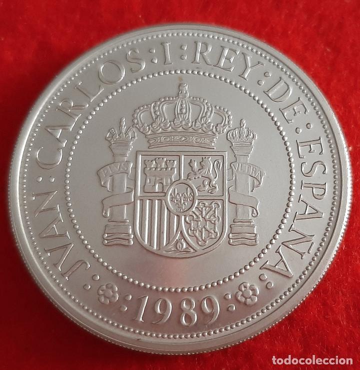 Monedas FNMT: MONEDA PLATA ESPAÑA 5000 PESETAS QUINTO CENTENARIO 1989 PROOF ORIGINAL , B35 - Foto 2 - 215995647