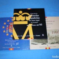 Monedas FNMT: ESPAÑA JUAN CARLOS I - LOTE DE 3 CARTERAS FNMT AÑOS- 1992- 1995 Y 1997 EN FDC. Lote 216648783