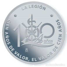 Monete FNMT: CENTENARIO DE LA LEGION ESPAÑOLA MEDALLA OFICIAL FNMT SIMILAR A 10 EUROS 2020. Lote 218299025