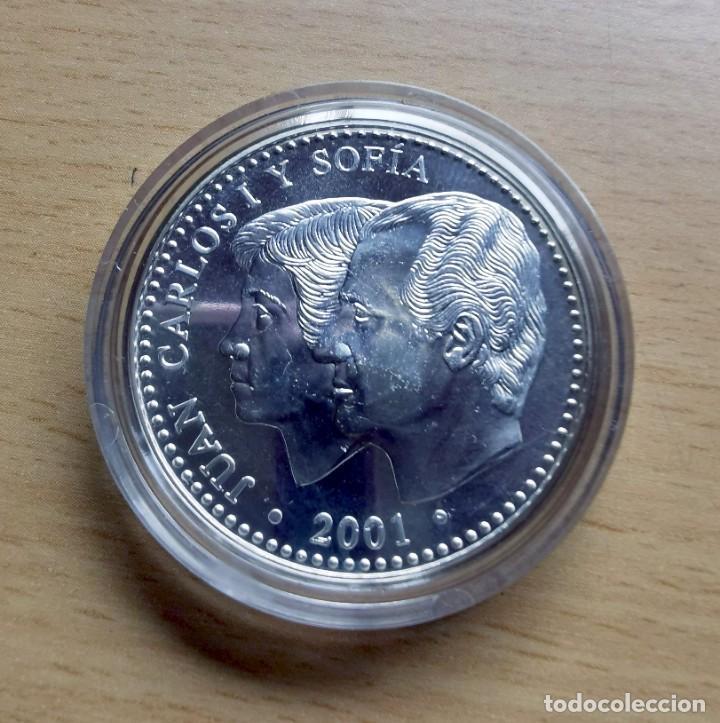 Monedas FNMT: MONEDA 2000 PESETAS PLATA - ÚLTIMA EMISIÓN DE LA PESETA - AÑO 2001 FNMT - Foto 2 - 218576763