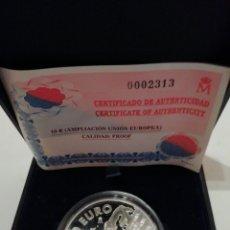 Monedas FNMT: 10 EUROS AMPLIACIÓN UNION EUROPEA CALIDAD PROOF. Lote 219570622