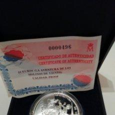 Monedas FNMT: 10 EUROS LA AVENTURA DE LOS MOLINOS. Lote 219570768