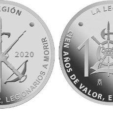 Monedas FNMT: ESPAÑA: MEDALLA FNMT ACUÑADA PARA EL CENTENARIO DE LA LEGIÓN ESPAÑOLA 1920-2020. Lote 262987995