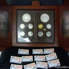 Monedas FNMT: PRECIOSA SERIE COMPLETA ORO Y PLATA - Vº Cº CARLOS I - 1500/2000 - MONEDAS IMPECABLES - CERTIFICADOS. Lote 223612197