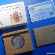 Monedas FNMT: 1000 PESETAS PLATA - 1998 - XX ANIVERSARIO CONSTITUCIÓN ESPAÑOLA. - ESTUCHE Y CERTIFICADO. Lote 225867980