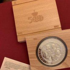 Monedas FNMT: ESTUCHE MONEDA DE 10000 PESETAS 1990 - SERIE 5 CENTENARIO FNMT ESPAÑA 168,75 GR PLATA.. Lote 228105286
