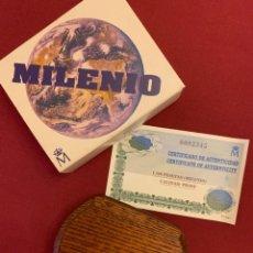 Monedas FNMT: MONEDA DE 1500 PTAS DE PLATA-AÑO 1999-CAMBIO DE MILENIO CON ESTUCHE Y CERTIFICADO. Lote 228106860