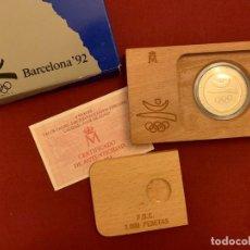 Monedas FNMT: ESTUCHE 2000 PESETAS - PLATA - OLIMPIADA BARCELONA 1992 - CERTIFICADO FNMT. Lote 228116465