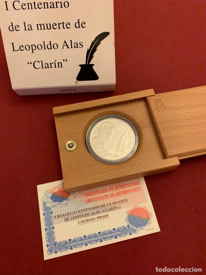 ESTUCHE 2000 PESETAS PLATA - 2001 - CENTENARIO MUERTE LEOPOLDO ALAS CLARIN - CON CERTIFICADO (Numismática - España Modernas y Contemporáneas - FNMT)
