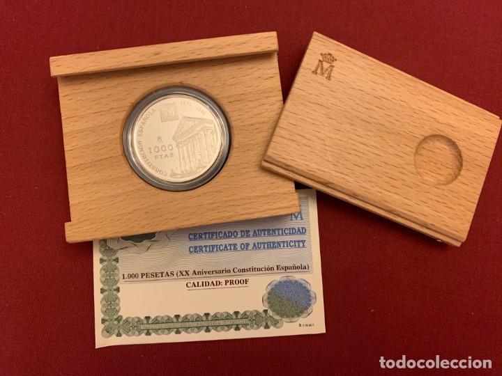 ESTUCHE 1000 PESETAS - 1998 - PLATA - XX ANIVERSARIO CONSTITUCIÓN ESPAÑOLA - CERTIFICADO FNMT (Numismática - España Modernas y Contemporáneas - FNMT)