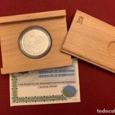 Monedas FNMT: ESTUCHE 1000 PESETAS - 1998 - PLATA - XX ANIVERSARIO CONSTITUCIÓN ESPAÑOLA - CERTIFICADO FNMT. Lote 228121495