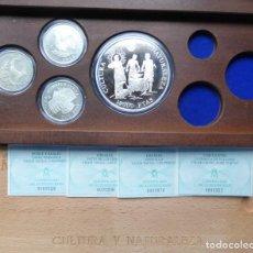 Monedas FNMT: SERIE 4 MONEDAS 2000-5000-10000 PESETAS 1995 CULTURA Y NATURALEZA PROOF. Lote 231524810