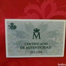Monete FNMT: CERTIFICADO CINCUENTIN 1990. Lote 231829940