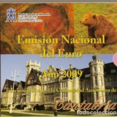 Monedas FNMT: ESPAÑA 2009 CARTERA EUROS CANTABRIA OFICIAL FNMT. Lote 232105730