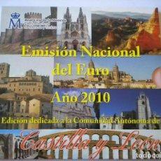 Monedas FNMT: ESPAÑA 2010 CARTERA EUROS CASTILLA Y LEON OFICIAL FNMT. Lote 232108060