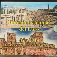 Monedas FNMT: ESPAÑA 2014 CARTERA EUROS EXTREMADURA OFICIAL FNMT. Lote 232109940