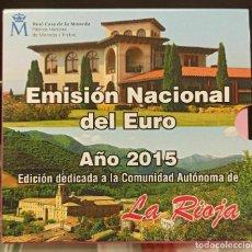 Monedas FNMT: ESPAÑA 2015 CARTERA EUROS LA RIOJA OFICIAL FNMT. Lote 232111145