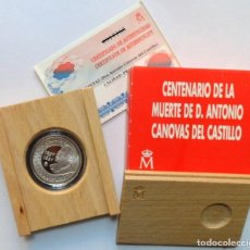 Monedas FNMT: MONEDA PLATA ESPAÑA 1997 CENTENARIO MUERTE CÁNOVAS DEL CASTILLO 1000 PESETAS. Lote 232281755