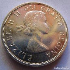 Monedas FNMT: CANADA . UN DOLAR DE PLATA ANTIGUO . AÑO 1962 . SIN CIRCULAR Y BRILLANTE. Lote 233750440