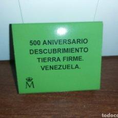 Monedas FNMT: MONEDA PLATA 500 ANIVERSARIO DESCUBRIMIENTO VENEZUELA. Lote 233820450