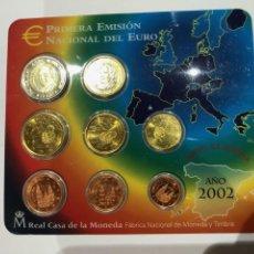 Monedas FNMT: PRIMERA EMISIÓN NACIONAL DEL EURO 2002 FNMT. Lote 233874430