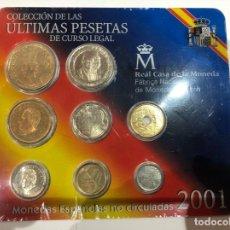 Monedas FNMT: ULTIMAS PESETAS CURSO LEGAL CARTERA 2001 FNMT. Lote 233876740
