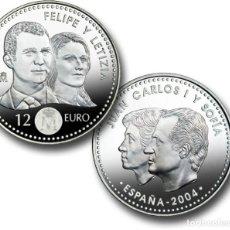 Monedas FNMT: LOTE 10 MONEDAS DE 12 EUROS DE PLATA AÑO 2004 (NUEVAS PERO SIN BLISTER). Lote 234136035