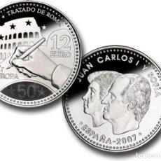 Monedas FNMT: LOTE 10 MONEDAS DE 12 EUROS DE PLATA AÑO 2007 (NUEVAS PERO SIN BLISTER). Lote 234136345