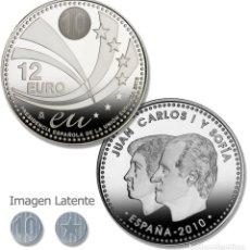 Monedas FNMT: LOTE 10 MONEDAS DE 12 EUROS DE PLATA AÑO 2010 (NUEVAS PERO SIN BLISTER). Lote 234136430