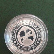 Monedas FNMT: MONEDA 200 PESETAS ESPAÑA 1989 FNMT PLATA PROOF EN CAPSULA ORIGINAL. Lote 234858375