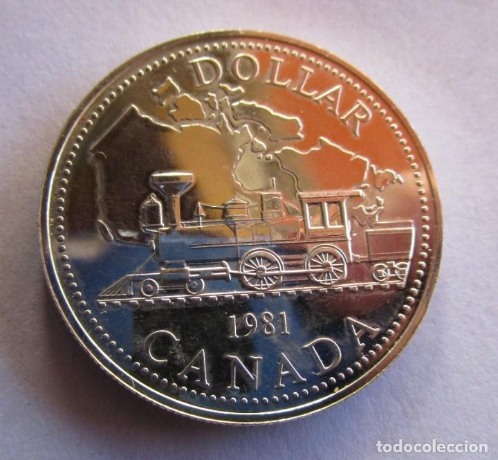 CANADA . UN DOLAR DE PLATA ANTIGUO. AÑO 1980 . CALIDAD SIN IRCULAR . PIEZA ESCASA (Numismática - España Modernas y Contemporáneas - FNMT)