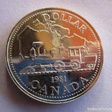 Monedas FNMT: CANADA . UN DOLAR DE PLATA ANTIGUO. AÑO 1980 . CALIDAD SIN IRCULAR . PIEZA ESCASA. Lote 254307455