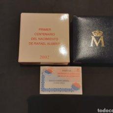 Monedas FNMT: ESTUCHE MONEDA PLATA 10 EUROS 2002 PRIMER CENTENARIO DEL NACIMIENTO RAFAEL ALBERTI. Lote 235600865