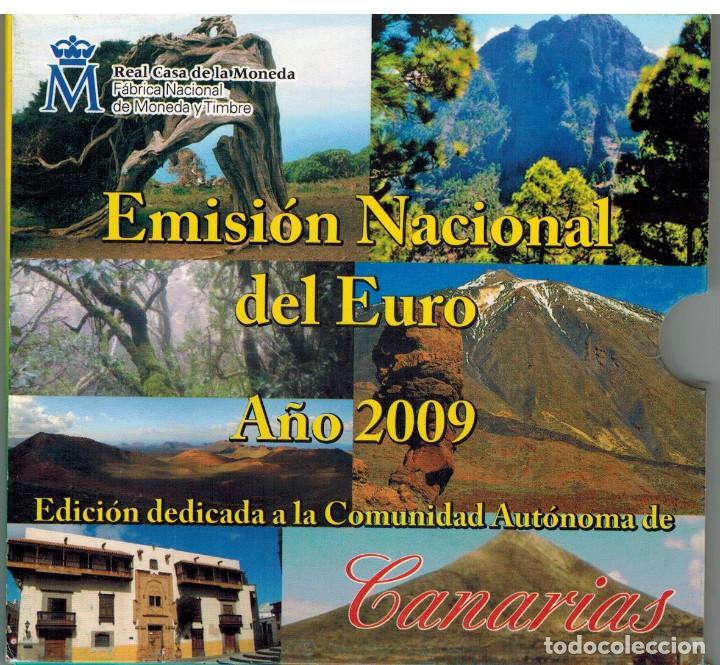 BLISTER MONEDAS ESPAÑA 2009 CON MEDALLA DE PLATA AUTONOMIA CANARIAS (Numismática - España Modernas y Contemporáneas - FNMT)