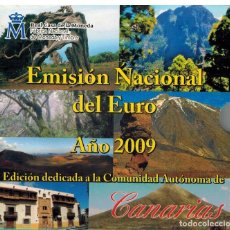Monedas FNMT: BLISTER MONEDAS ESPAÑA 2009 CON MEDALLA AUTONOMIA CANARIAS. Lote 235800890