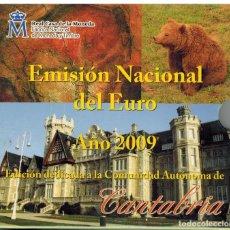 Monedas FNMT: BLISTER MONEDAS ESPAÑA 2009 CON MEDALLA AUTONOMIA CANTABRIA. Lote 235801170