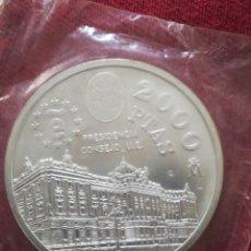 Monedas FNMT: 2000 PESETAS ESPAÑA FNMT 1995 PLATA EN FUNDA DEL BANCO. Lote 236159415