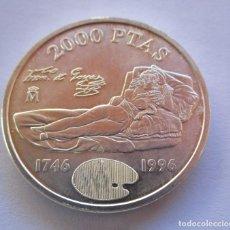 Monete FNMT: LA MAJA VESTIDA . DOS MIL PESETAS EN PLATA DE 925 MM. TOTALMENTE NUEVA . ENVIO 0,90 CENTIMOS. Lote 257789260
