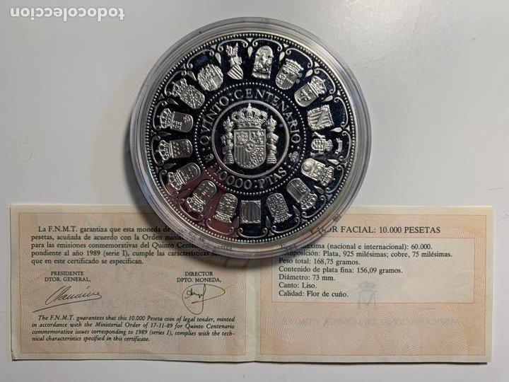 Monedas FNMT: Moneda Conmemorativa V Centenario en Plata. 1989, serie I - Foto 3 - 236758445
