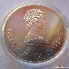 Monedas FNMT: CANADA .10 DOLARES DE PLATA . XXI OLIMPIADA DE MONTREAL . GRAN TAMAÑO Y PESO . 48,60 G. SIN CIRCULAR. Lote 254478470