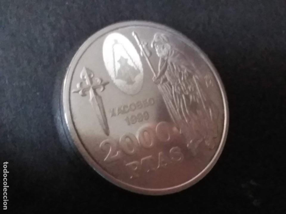 2000 PTAS PLATA 925. XACOBEO'99 SANTIAGO, GALICIA (Numismática - España Modernas y Contemporáneas - FNMT)