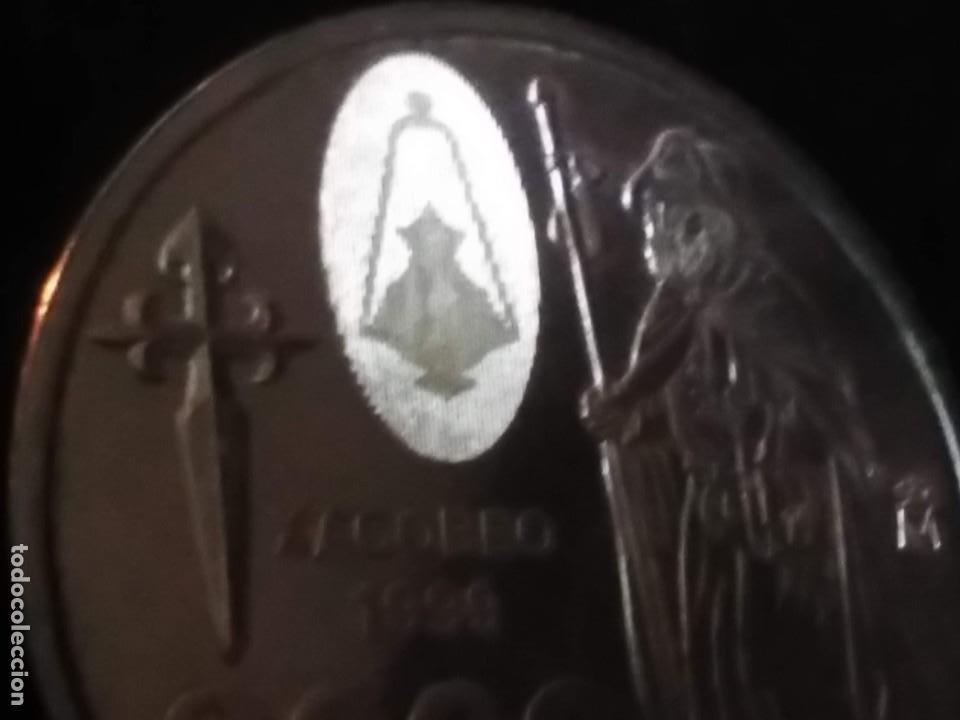 Monedas FNMT: 2000 ptas PLATA 925. XACOBEO99 SANTIAGO, GALICIA - Foto 2 - 37503754
