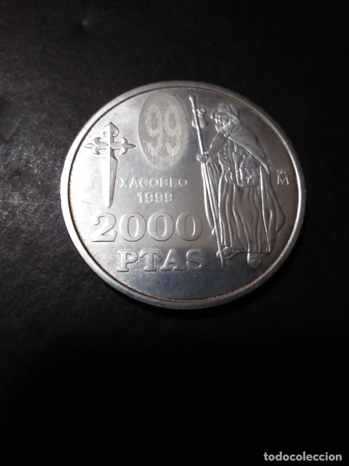 Monedas FNMT: 2000 ptas PLATA 925. XACOBEO99 SANTIAGO, GALICIA - Foto 4 - 37503754