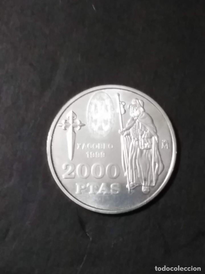 Monedas FNMT: 2000 ptas PLATA 925. XACOBEO99 SANTIAGO, GALICIA - Foto 3 - 37503754
