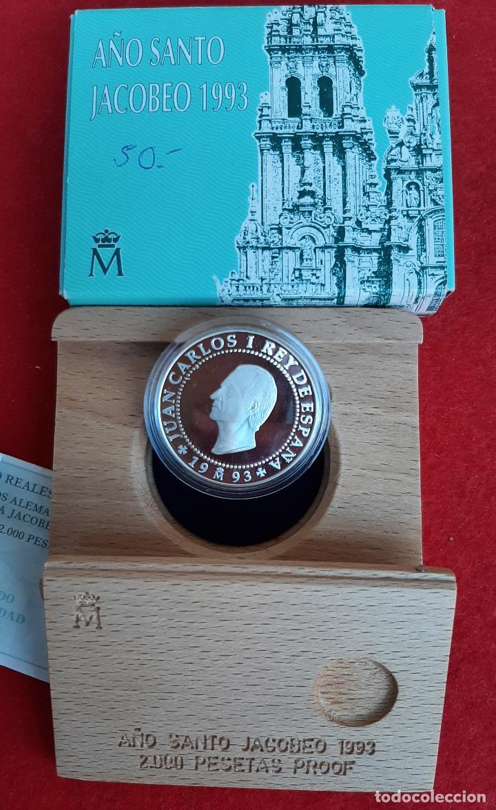 MONEDA PLATA 2000 PESETAS AÑO SANTO JACOBEO PEREGRINOS ALEMANES 1993 ORIGINAL (Numismática - España Modernas y Contemporáneas - FNMT)